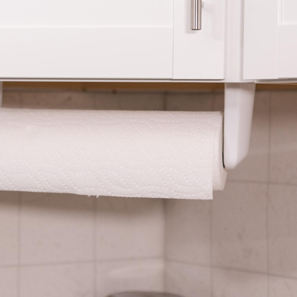 Real Solutions For Life Under Cabinet Paper Towel Holder