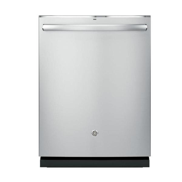 GE Top Control Dishwasher In Stainless Steel with Stainless Steel Tub and Steam Prewash, 46 dBA