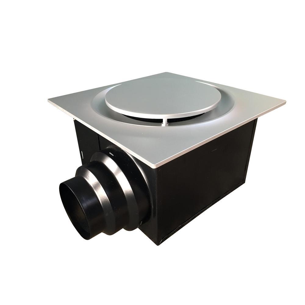 Aero Pure Low Profile 110 CFM Quiet Ceiling Bathroom Ventilation Fan 0.9 Sones, Satin Nickel