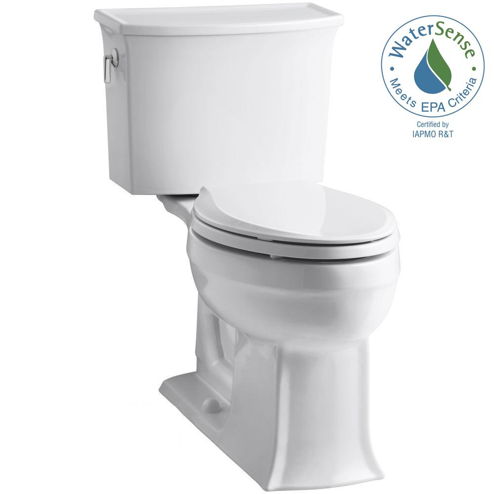 KOHLER Archer Comfort Height 2-piece 1.28 GPF Single Flush Elongated ...