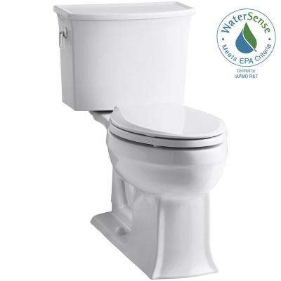 Archer Comfort Height 2-piece 1.28 GPF Single Flush Elongated Toilet with AquaPiston Flushing Technology in White