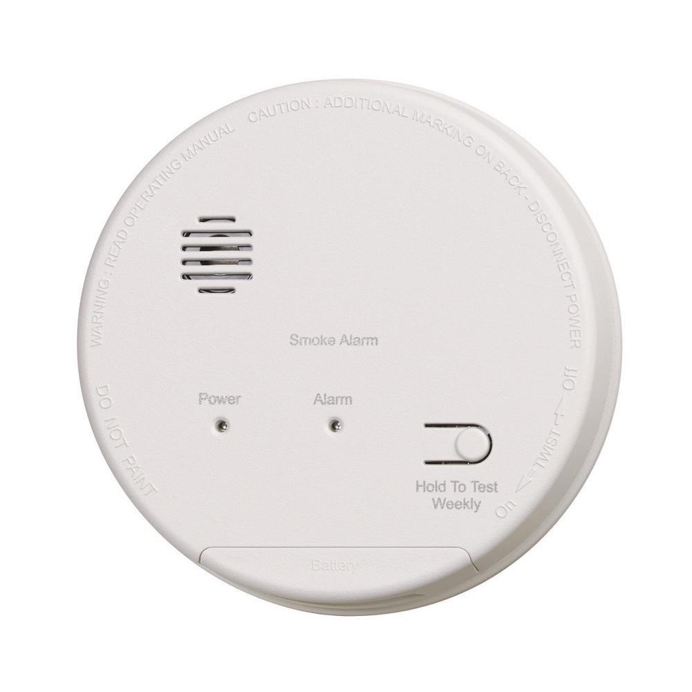 Gentex Hardwired Interconnected Photoelectric Smoke Alarm with Dualink, Battery Backup and Relay Contacts