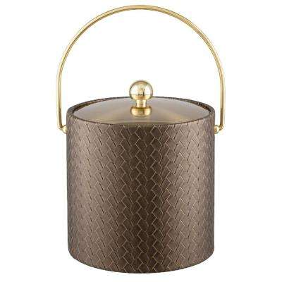 San Remo Antique Gold 3 Qt. Ice Bucket with Bale Handle and Metal Lid