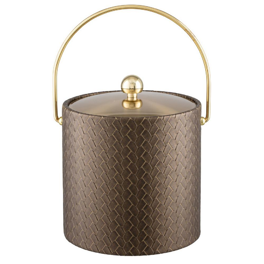 San Remo Antique Gold 3 Qt. Ice Bucket with Bale Handle