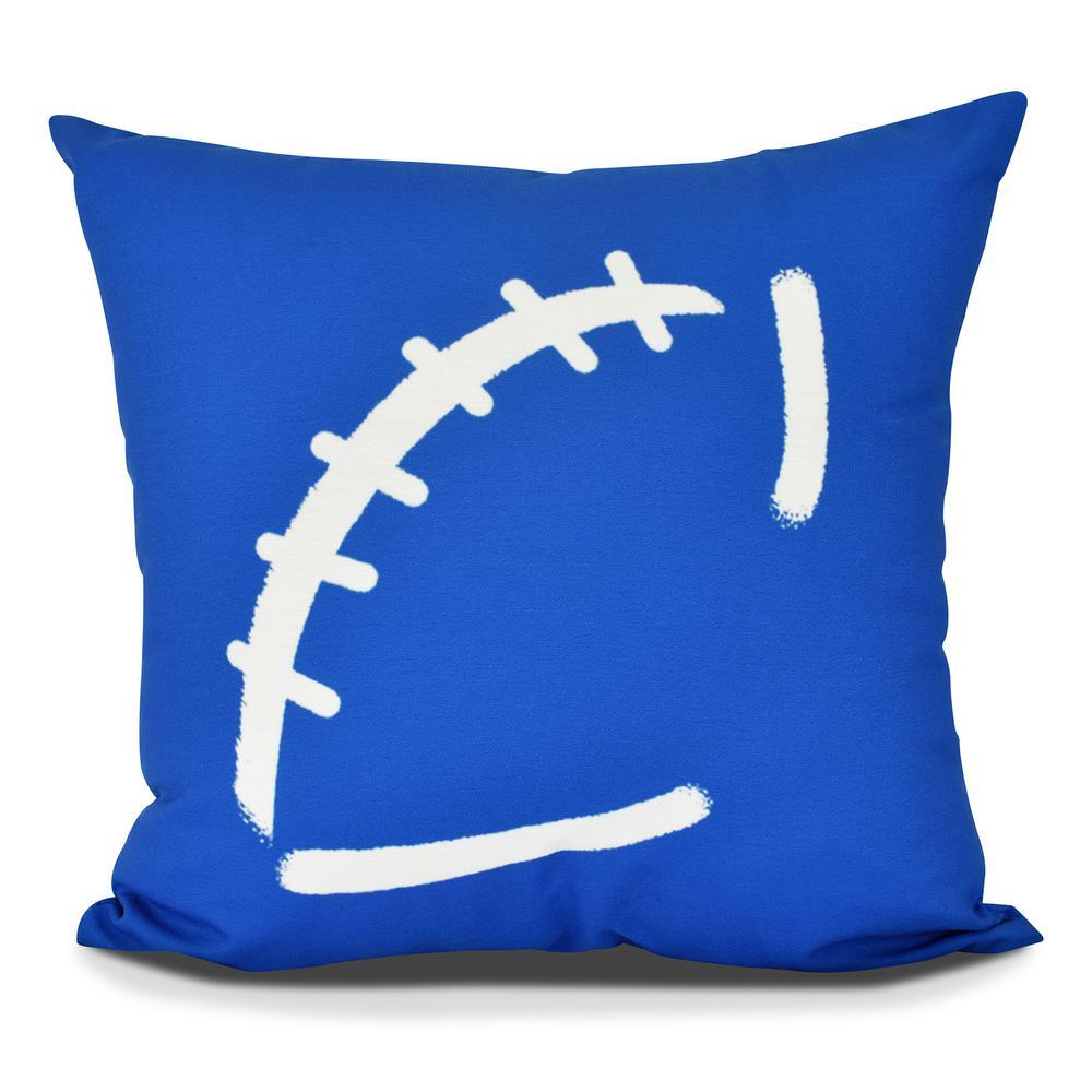 Football Geometric Print Decorative Pillow