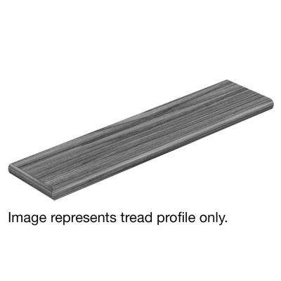 Brushed Wood Greige 47 in. L x 12-1/8 in. D x 1-11/16 in. H Vinyl Overlay Left Return to Cover Stairs 1 in. Thick