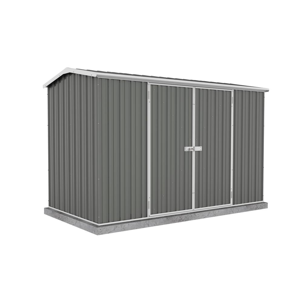 ABSCO Premier 10 ft. x 5 ft. Woodland Gray Metal Shed