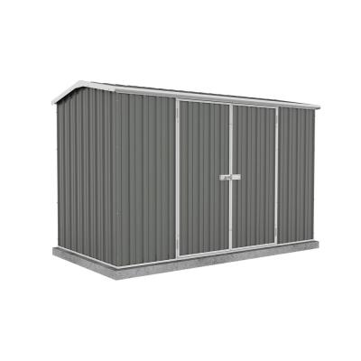 Premier 10 ft. x 5 ft. Woodland Gray Metal Shed