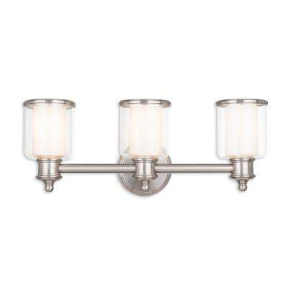 Middlebush 3-Light Brushed Nickel Bath Light