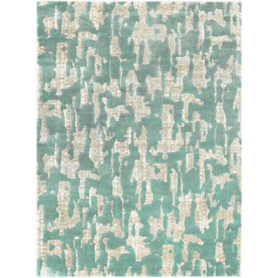 Tanja Basile Teal 7 ft. 10 in. x 10 ft. 2 in. Indoor Area Rug