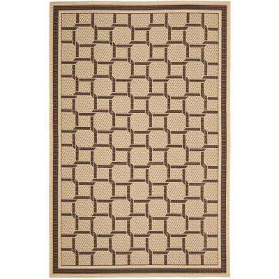 Resort Weave Cream Chocolate 8 Ft X 11 Area Rug