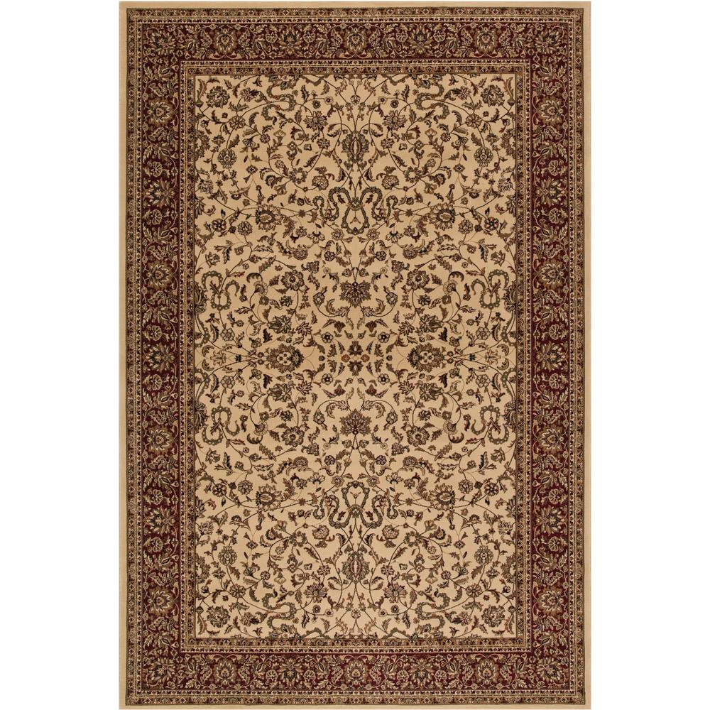 Concord Global Trading Persian Classics Kashan Ivory 2 ft. x 3 ft. 3 in. Accent Rug
