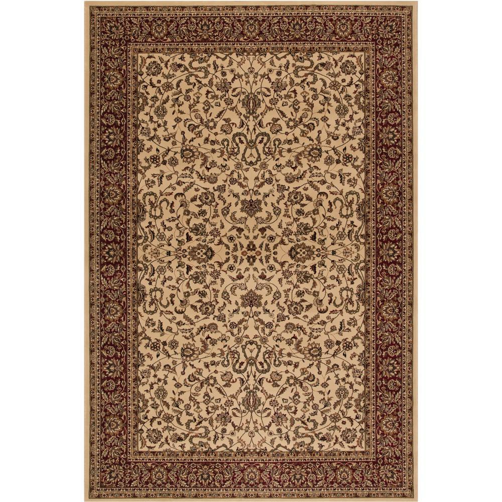 Persian Classics Kashan Ivory 7 ft. x 10 ft. Area Rug