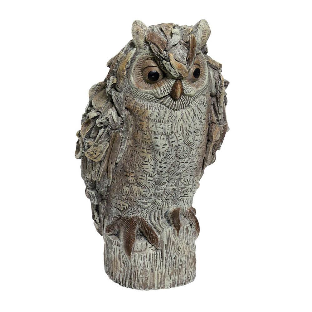 16 in. Tall Owl Stone Garden Statue