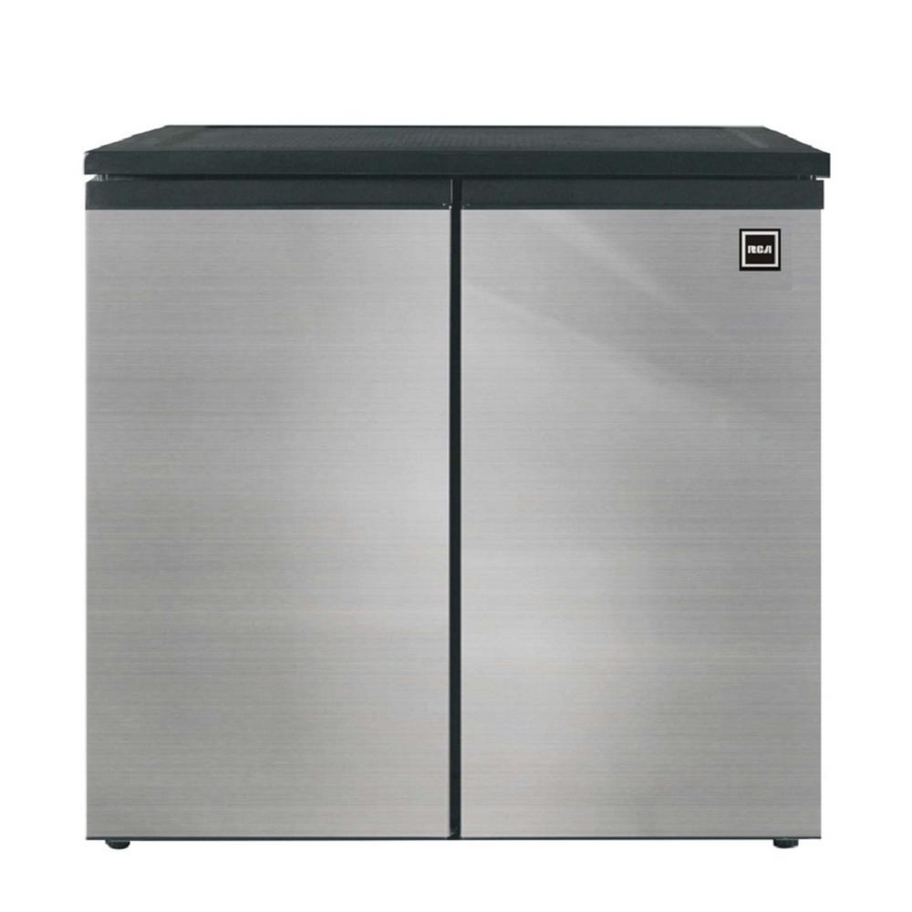 31 in. 5.5 cu. ft. Side by Side 2 Door Mini Refrigerator in Black