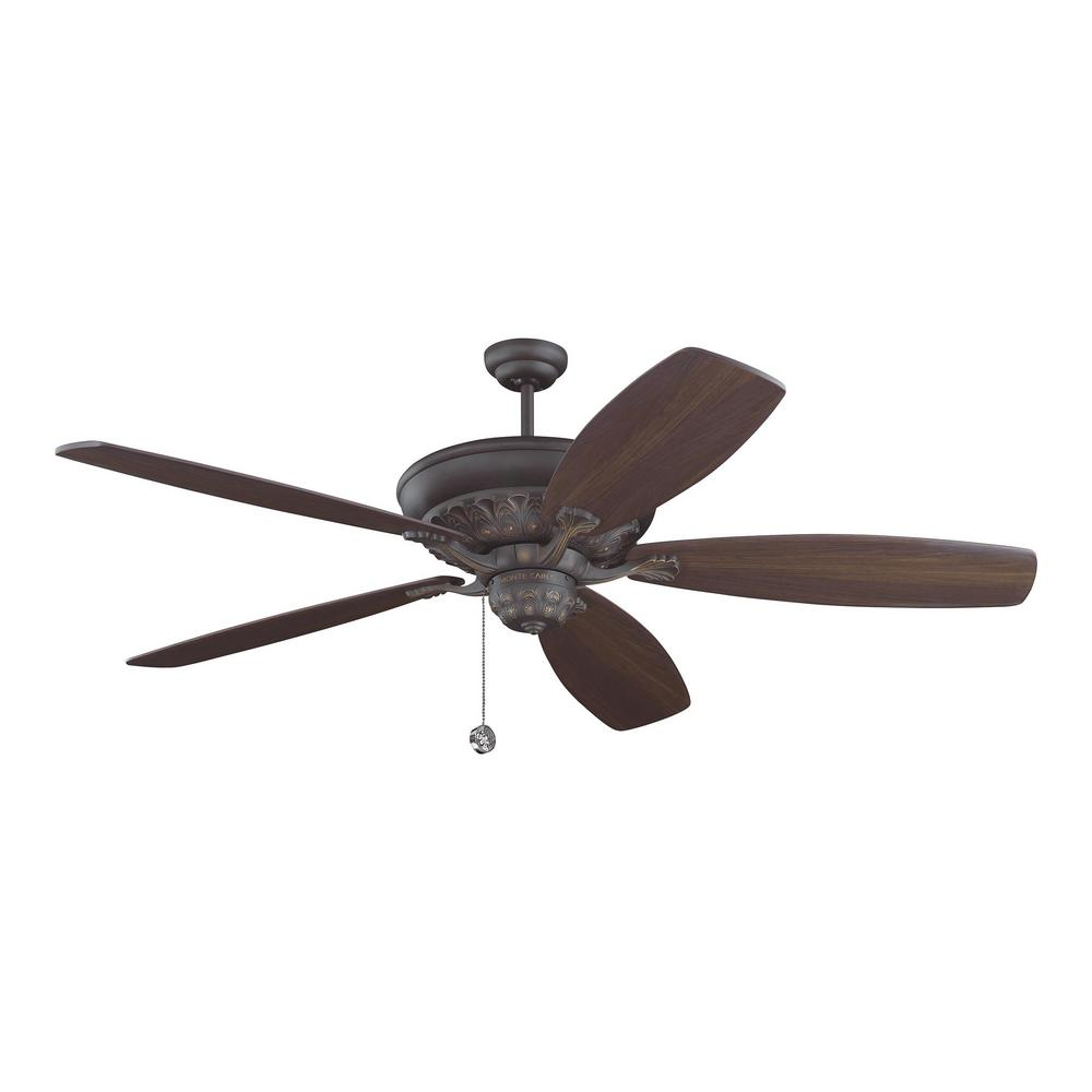 Monte Carlo St. Ives54 in. – 72 in.Roman Bronze Traditional Ornate Ceiling Fan with Custom Furniture Finish Blades Sold Separately