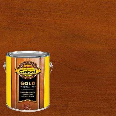 1 gal. Sunlit Walnut Gold Oil Exterior Deck Varnish