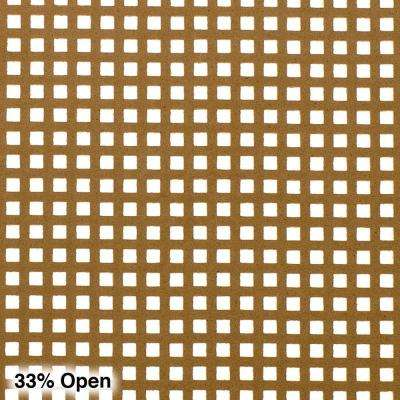 72 in. x 24 in. x 1/8 in. Unfinished Mini Square Decorative Perforated Paintable MDF Screening Panel Insert