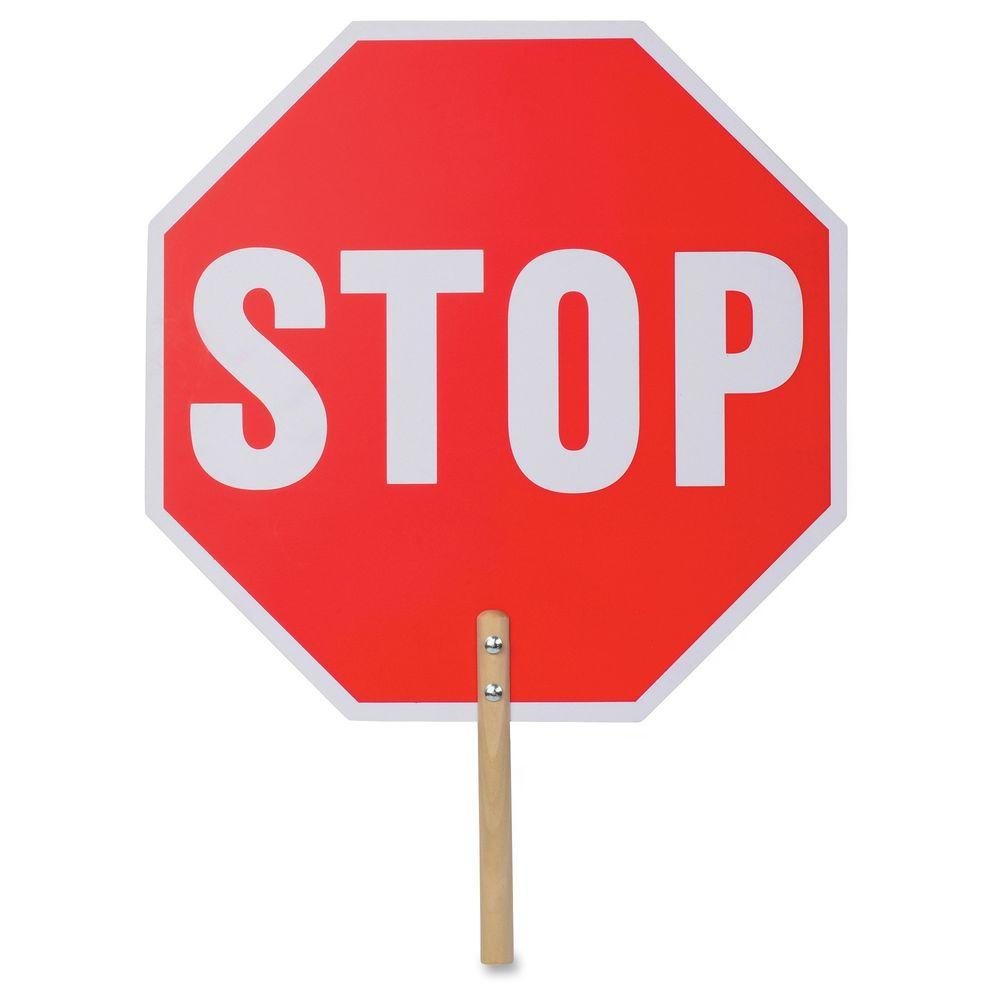 Tatco 18 in. x 18 in. Handheld Stop Sign
