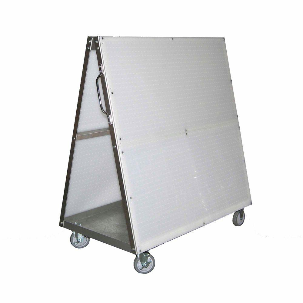 Triton Products DuraBoard 48 in. L x 51-1/2 in. H x 29-3/4 in. W Aluminum Frame Tool Cart with Tray