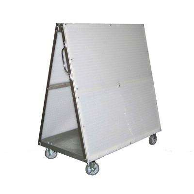 46.5 in. DuraBoard 48 in. L x 51-1/2 in. H Aluminum Frame Tool 0-Drawer Utility Cart with Tray