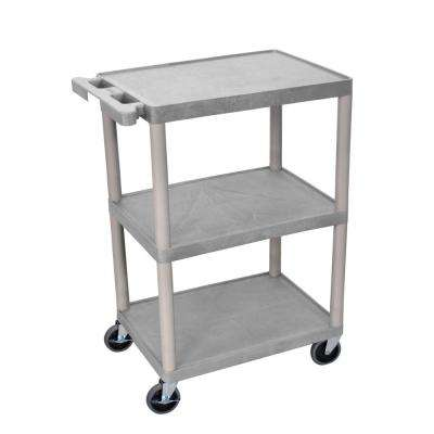 STC 24 in. 3-Shelf Utility Cart in Gray