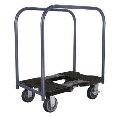 1,500 lbs. Capacity All-Terrain Professional E-Track Panel Cart Dolly in Black