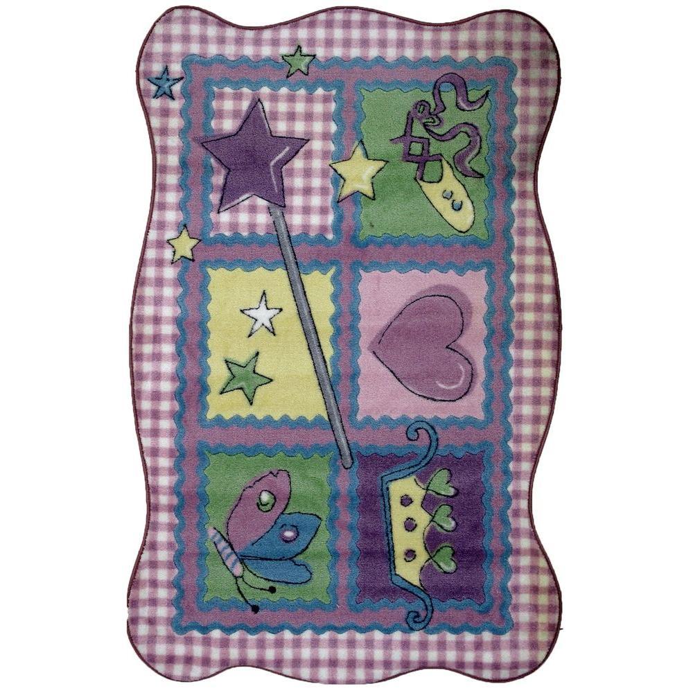Supreme Fairy Quilt Multi Colored 39 in. x 58 in. Area