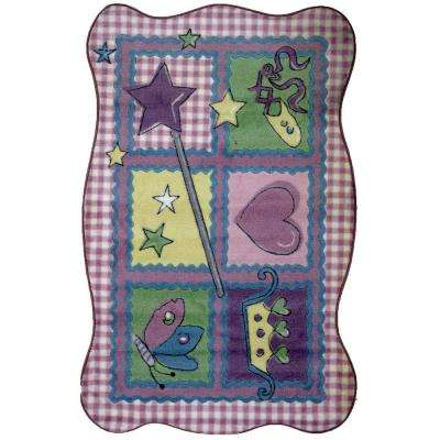 Supreme Fairy Quilt Multi Colored 39 in. x 58 in. Area Rug