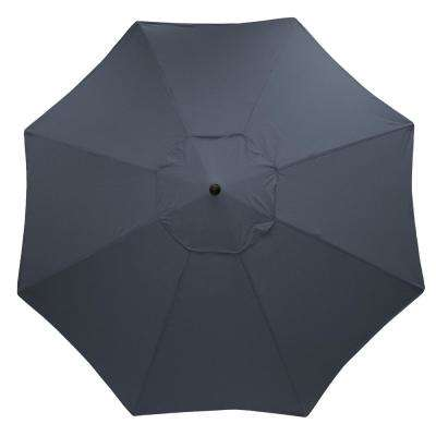 11 ft. Aluminum Market Patio Umbrella in CushionGuard Midnight