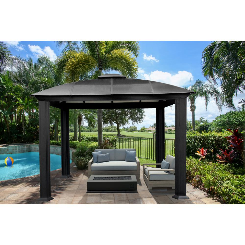 Paragon-Outdoor 12 ft. x 12 ft. Aluminum Gazebo - STC Paragon-Outdoor 12 Ft. X 12 Ft. Aluminum Gazebo-GZ3D - The Home