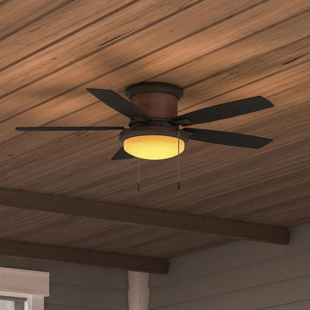 Flush Mount Ceiling Fan Hugger Low Profile Stylish Led