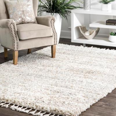 Contemporary Brooke Ivory 8 ft. x 11 ft. Shag Area Rug
