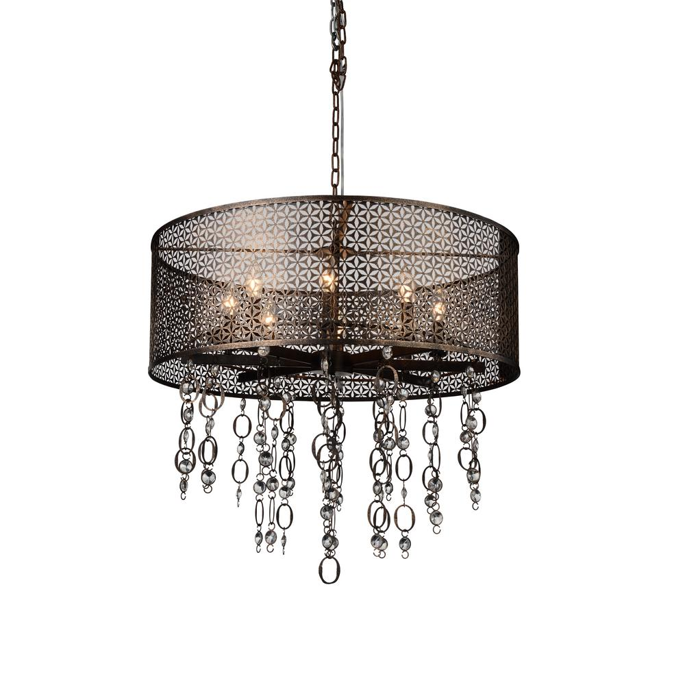 Cwi Lighting Pollett 8 Light Golden Bronze Chandelier