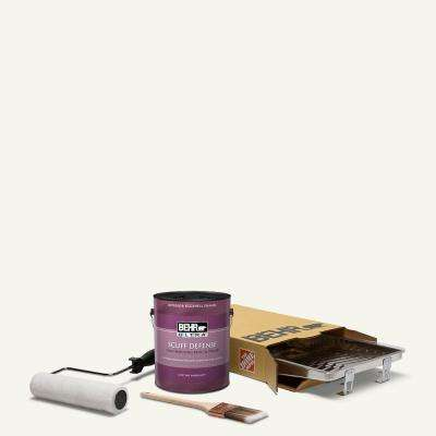 1 gal. #75 Polar Bear Extra Durable Eggshell Enamel Interior Paint and 5-Piece Wooster Set All-in-One Project Kit