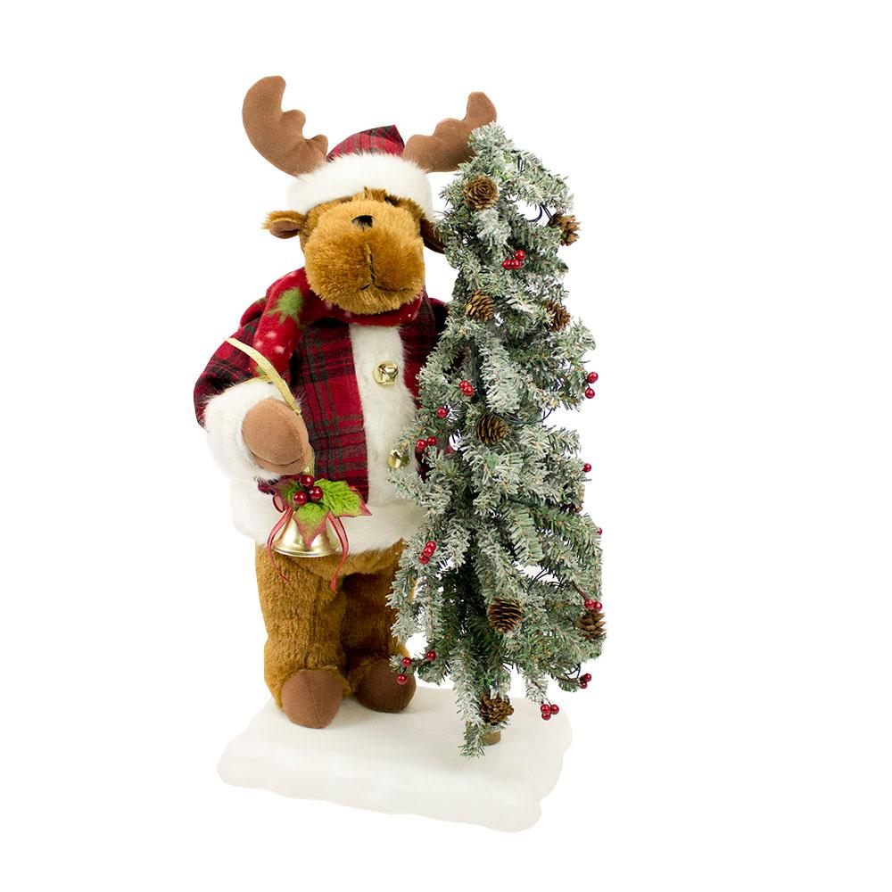 christmas animated musical reindeer with head and hand movement and led lighted tree - Animated Lighted Reindeer Christmas Decoration