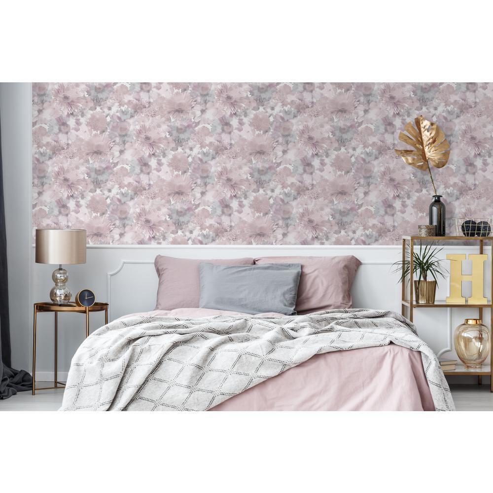 Superfresco Easy Pink Summer Garden Floral Wallpaper