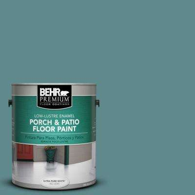 1 gal. #S440-5 Tasmanian Sea Low-Lustre Porch and Patio Floor Paint