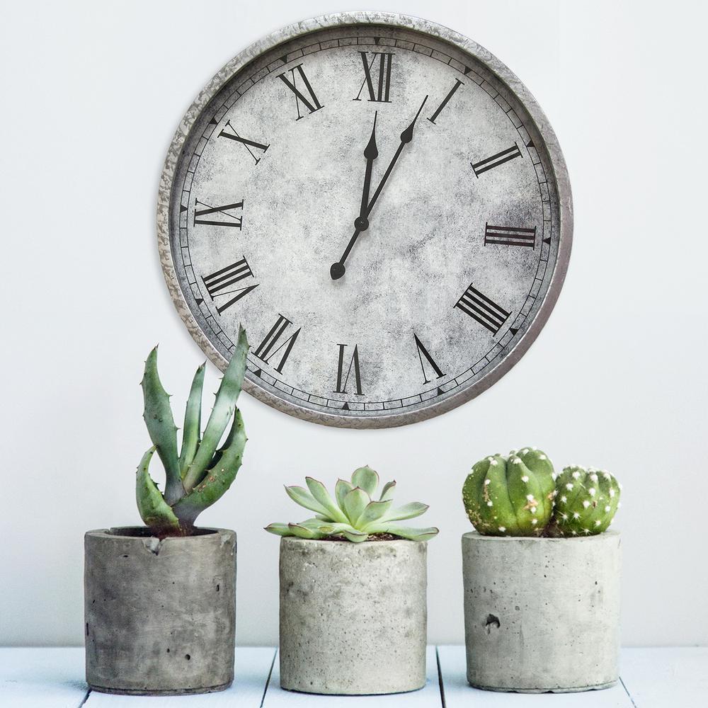 Gaston Gray Wall Clock