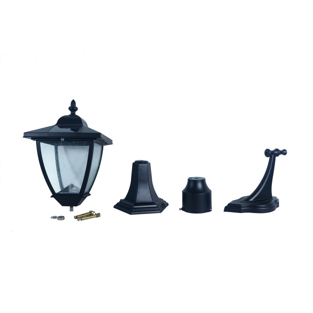 Nature Power Bayport 16 in. Outdoor Black Solar Lamp with Super Bright Natural White LED and 3-Mounting Options was $68.82 now $54.19 (21.0% off)