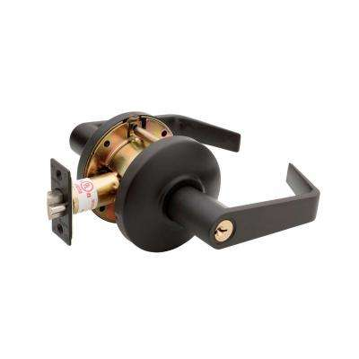Grade 2 Dark Bronze Cylindrical Entry Door Lever