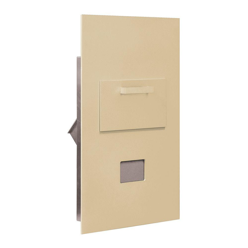Salsbury Industries 3600 Series Collection Unit Sandstone USPS Rear Loading for 6 Door High 4B Plus Mailbox Units
