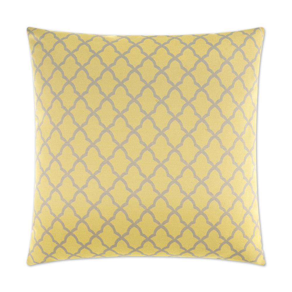 Pacato Yellow Geometric Down 24 in. x 24 in. Throw Pillow