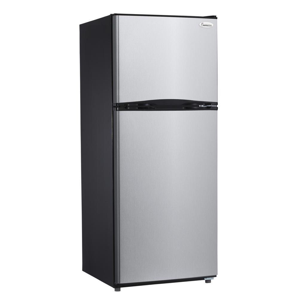 whirlpool 19 2 cu ft top freezer refrigerator in monochromatic stainless steel wrt519szdm. Black Bedroom Furniture Sets. Home Design Ideas