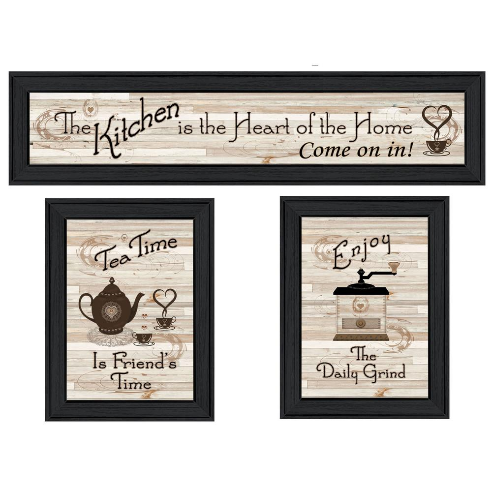Trendy decor 4u kitchen friendship collection iii by millwork engineering framed wall art v428 405 the home depot