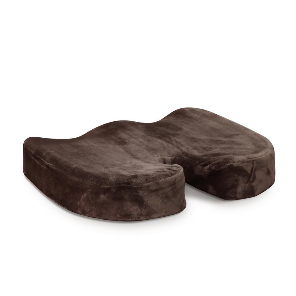 Dark Brown Firm Memory Foam Seat Cushion Chair Pad