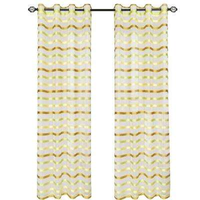 Green Sonya Grommet Curtain Panel, 84 in. Length