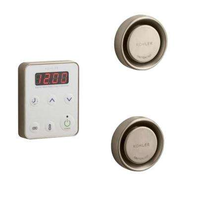 Fast Response Wall-Mount Steam Bath Generator Control Kit in Vibrant Brushed Bronze