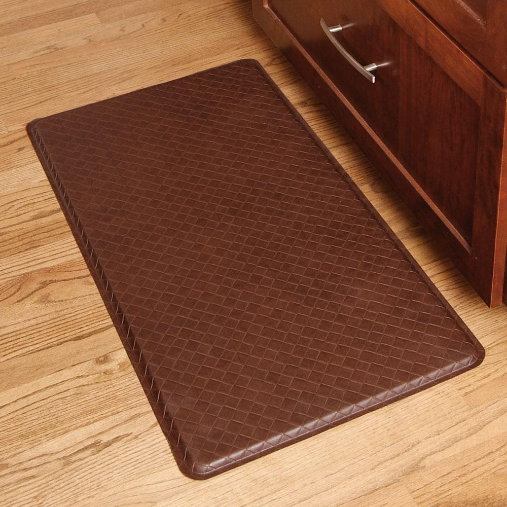 GelPro Classic Basketweave Truffle 20 in. x 36 in. Comfort Kitchen Mat