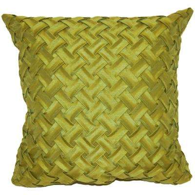 Lattice Green Decorative Pillow